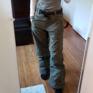 Columbia snowboarding pants Army green